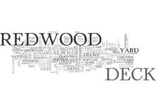 A Perfect Deck Starts With Redwood Word Cloud Stock Photo