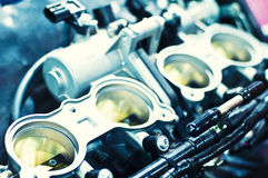 Perfect details of a motorcycle engine Royalty Free Stock Image