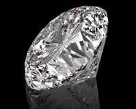 Perfect diament odizolowywający na czerni zdjęcia royalty free