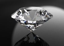 Perfect diamond isolated on black royalty free illustration