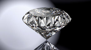 Perfect diamond isolated on shiny background with clipping path royalty free stock photos