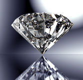 Perfect diamond isolated on shiny background with clipping path stock photos