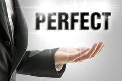 Perfect die teken door een zakenman wordt voorgesteld Royalty-vrije Stock Afbeeldingen