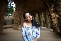Perfect dziewczyna z piękną twarzą zdjęcia royalty free