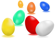 Perfect easter-eggs Stock Photography