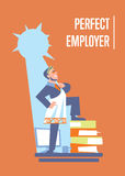 Perfect employer banner with businessman Stock Image