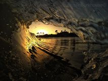 Perfect escape. Santa Cruz waves Stock Image