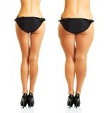 Perfect and fat woman's body isolated Stock Photos