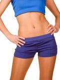 Perfect female body isolated on white Stock Image