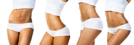 Perfect female body isolated Stock Image
