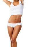 Perfect female body over white Stock Photos