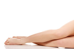 Perfect female legs. Royalty Free Stock Images
