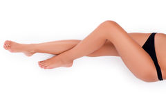 Perfect female legs Royalty Free Stock Images