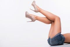 Perfect female legs Stock Image