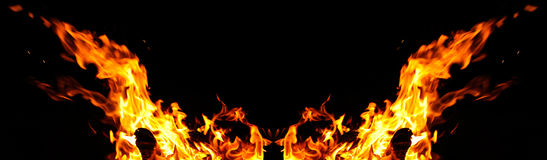 Perfect fire flames with copyspace Stock Photo