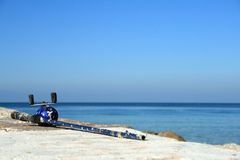 Perfect Fishing Spot by the Ocean Royalty Free Stock Photos
