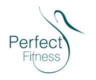 Perfect Fitness Logo Royalty Free Stock Photography