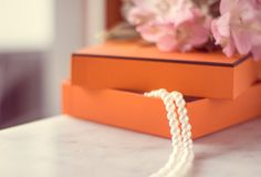 The perfect gift for her. Chic pearl jewellery in a present box - Valentine's day ideas, luxury shopping and holiday inspiration concept. The perfect gift for royalty free stock photography