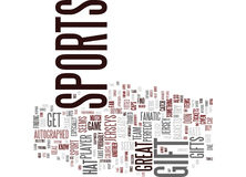 The Perfect Gift For A Sports Fanatic Text Background  Word Cloud Concept Royalty Free Stock Images