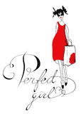 Perfect girl Royalty Free Stock Images