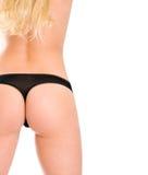 Perfect girl back in black bikini. Royalty Free Stock Photography