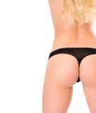 Perfect girl back in black bikini. Royalty Free Stock Image