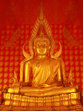 Perfect golden Buddha. This is a perfect golden Buddha of Thailand Stock Image