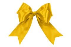 Perfect golden satin bow