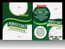 Perfect golf flyer template Royalty Free Stock Images