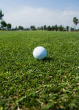 Perfect golfing day stock images
