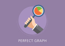Perfect graph concept flat icon Royalty Free Stock Photos