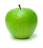 Perfect green apple Stock Photo