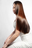 Perfect hair. Portrait of young beautiful woman with perfect hair Royalty Free Stock Photo