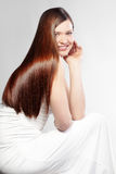 Perfect hair. Portrait of young beautiful woman with perfect hair Royalty Free Stock Photos