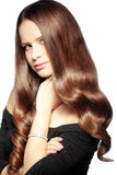 Perfect hair. Portrait of young beautiful woman with long glossy hair Stock Photo