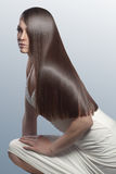Perfect hair. Portrait of young beautiful woman with perfect hair Stock Photos