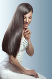 Perfect hair. Portrait of young beautiful woman with perfect hair Royalty Free Stock Images