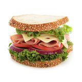 Perfect Ham And Cheese Sandwich Stock Image