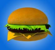 The perfect hamburger 3D render Stock Photos