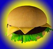 The perfect hamburger 3D render Stock Photo