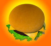 The perfect hamburger 3D render Stock Photography