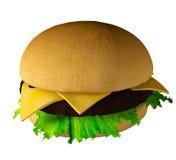 The perfect hamburger 3D render Stock Image