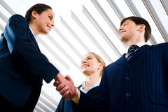 Perfect handshake Stock Images