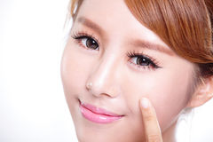 Perfect health Skin woman face Stock Image
