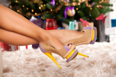 Perfect heels for perfect legs Stock Photography