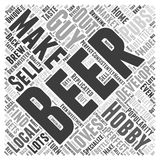 A Perfect Hobby for that Guy Who Loves Beer word cloud concept  background Stock Image