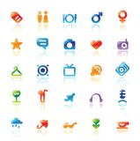 Perfect icons for travel Stock Photos
