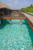 A Perfect Island Holiday on Overwater Bungalow wit Stock Photo