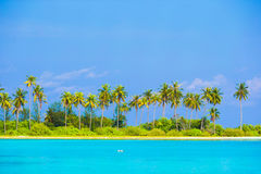 Perfect island with white beach, turquoise water Royalty Free Stock Photography