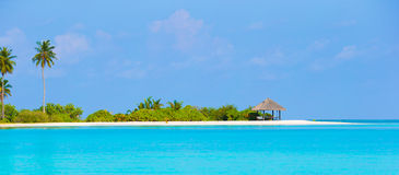 Perfect island with white beach, turquoise water Stock Photo